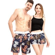 New Arrival Summer Couple Beach Shorts Drawstring Elastic Waist Casual Loose Board Shorts Men Breathable Quick Dry Shorts Women(China)