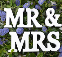 New Wedding Gift Mr Mrs Letters White Wood Mr Mrs Sign Top Table Decoration
