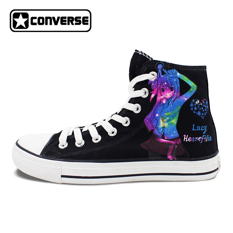 Sneakers Men Women Converse All Star Galaxy Shoes Anime Fairy Tail Design Hand Painted Sneakers Unique Christmas Gifts