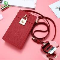FLOVEME Fashion For IPhone 7 7 Plus Wallet Case Girl Card Slot Messenger Bag Universal Phone