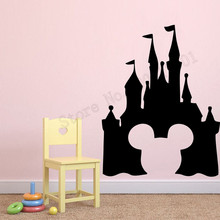 Mickey Mouse Head Wall Sticker Vinyl Art Design Room Decor Cartoon Home Decoration For Kids Beauty Ornament LY986