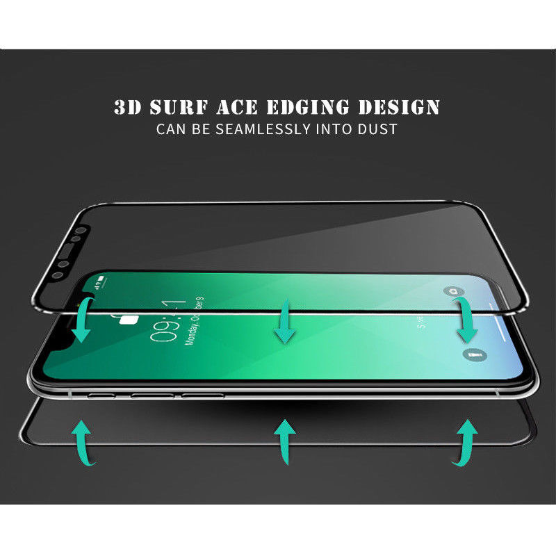 Image 4 - 3D Curved Edge Front+Back Tempered Glass For iPhone X Full Screen Protection Replacement Case Cover for Apple iPhone XS Max XR-in Phone Screen Protectors from Cellphones & Telecommunications