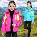 Girl Fashion Snow Wear Baby Hoodies Clothing Winter Ski Hiking Coat Jacket Cotton Girls Sportswear Children's Outerwear 2PCS