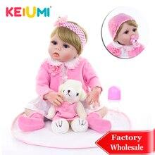 KEIUMI 57 см куклы для новорожденных девочек, модные игрушки DIY 23 дюйма, силиконовые куклы для новорожденных, полностью виниловые куклы для детей, подарки на день рождения