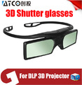 ¡ Promoción! 4 unids/lote ATCO Profesional Universal DLP LINK Obturador Activo 3D Gafas Para Proyector DLP 3D Ready