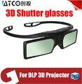Promoção! 4 unidades/lotes ATCO Profissional Universal LIGAÇÃO DLP Do Obturador Ativo Óculos 3D Para 3D Ready DLP Projector