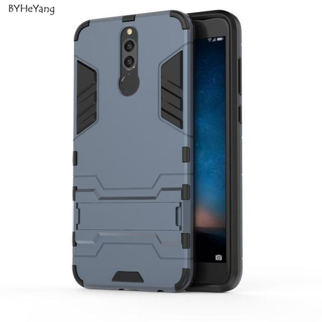 watch df0bb a9c2b US $2.85 |BYHeYang For Huawei Nova 2i Case Huawei Mate 10 Lite Cover Robot  Armor Slim Rubber Phone Case For Huawei Honor 9i / Maimang 6-in Fitted ...