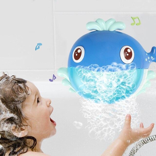 Bubble Machine Crabs Frog Music Kids Bath Toy Bathtub Soap Automatic Bubble Maker Baby Bathroom Toy for Children 1