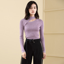 2018 New Sweater Half-high Round Neck Bottoming Shirt Slim Solid Color Fashion vestidos