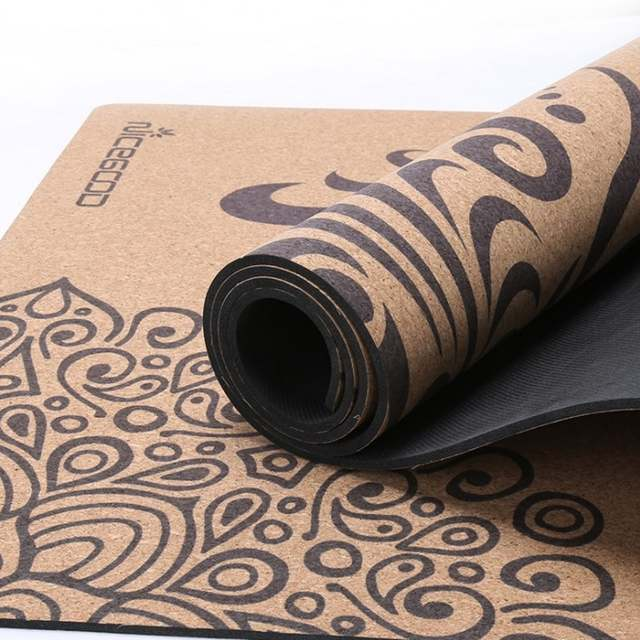Online Shop New Cork Natural Rubber Yoga Mat Eco Friendly Non Slip