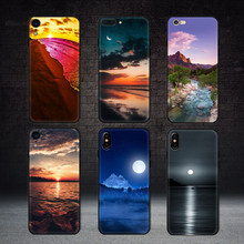 Newest-Case Landscape-Cover-Case iPhone Xs Matte for Natural Sunset-Lake Conque 5s Moon