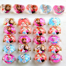25PCS Princess Elsa Anna cartoon ring Party favors baby shower decoration kids happy birthday party supply gift souvenirs