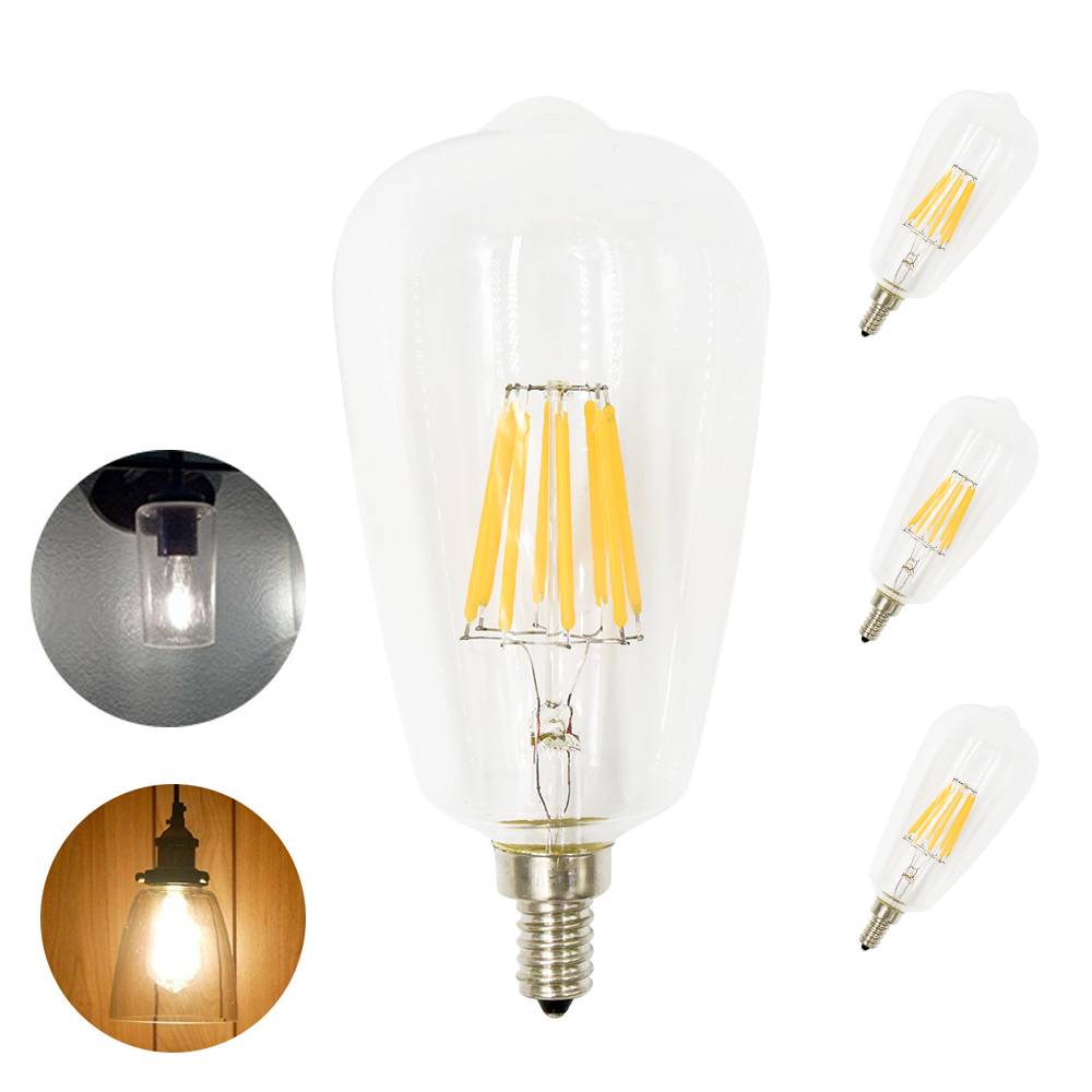 8w st64 edison led bulbs st64 led e12 candelabra bulb 800 lumen 80w equivalent decorative filament light bulbs