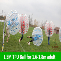 1.5M TPU Inflatable Bubble Soccer Football Ball, Bubble football Air Bumper Ball Body Zorb Ball Bubble Soccer Zorb Ball