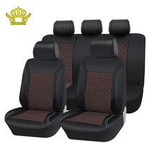 Универсальный чехол для автомобиля искусственного кожа Автокресло Auto аксессуары для интерьера Автокресло охватывает роскошные модели авточехлы на сиденья автомобиля mitsubishi lancer 10 mazda cx3.чехол на машину w124