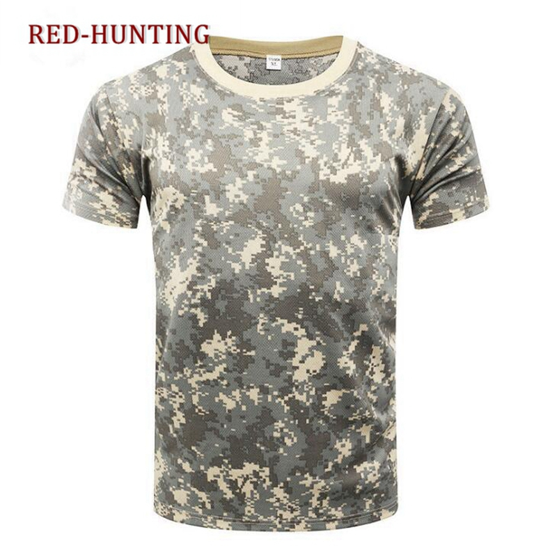 Top Camouflage Tactical Military Short Sleeve Army Camo T-shirt Quick Dry Sze M-xxxl Quell Summer Thirst Wrench