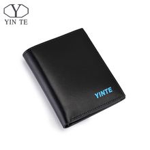 YINTE Black Men's Short Wallet Top Leather Business Purse Fashion New Design Leather Card Holder Pocket Purse Portfolio T8845B