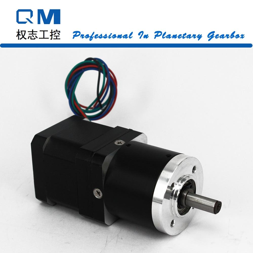 Nema 17 gear stepper motor L=40mm planetary reduction gearbox ratio 20:1      cnc robot pump