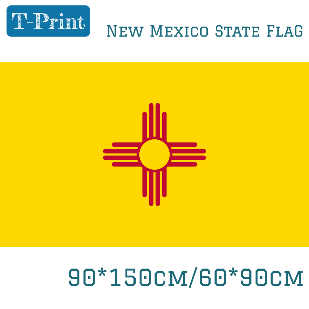 state of new mexico flag 3 5 feet usa polyester 90 150cm 60 90cm flag america for home. Black Bedroom Furniture Sets. Home Design Ideas