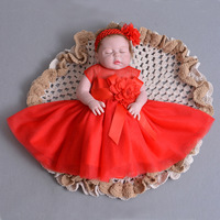 Newborn Baby Kids Toddler Flower Girl Party Dresses For Girls Wedding Poppy Dress Infant Children Clothing