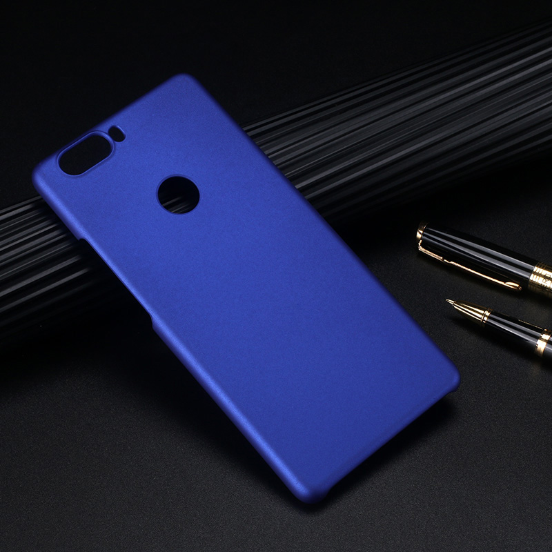 ZTE1359L_1_Pure Color Frosted Plastic Protective Case for ZTE Nubia Z17 Lite