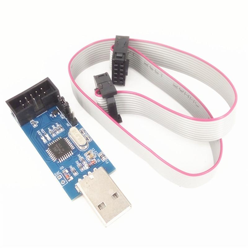 5pcs/lot LC-01 51 AVR programmer ISP USBASP downloader USBISP download line ...