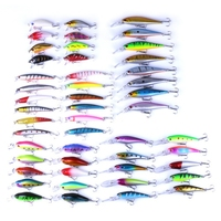 48pcs New Lot Fishing Lures Mixed 5 Model Minnow Lure Artificial Quality Professional Crankbait Wobblers