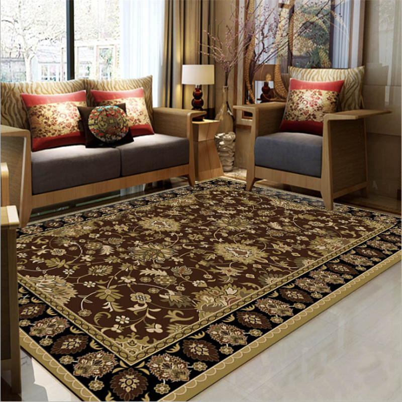 Vintage Persian Ethnic Brown Carpet Carpets For Living Room Bedroom Rugs Decorate Home Carpet Non-slip And Anti-wrinkle Rugs