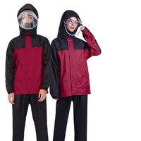 Adults Long Transparent Raincoat Waterproof with Hood Women Men Cover Coat Womens Rain Coats Impremiable Sets Rain Suit 60YY199