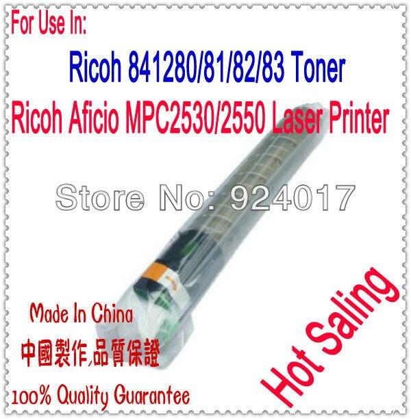 Для Ricoh 2550 2530 Тонер, Используйте Для Ricoh MPC Тонер Aficio MP C2550/2530 Принтер, Для Ricoh 841280 841281/82/83, Высокая Производительность