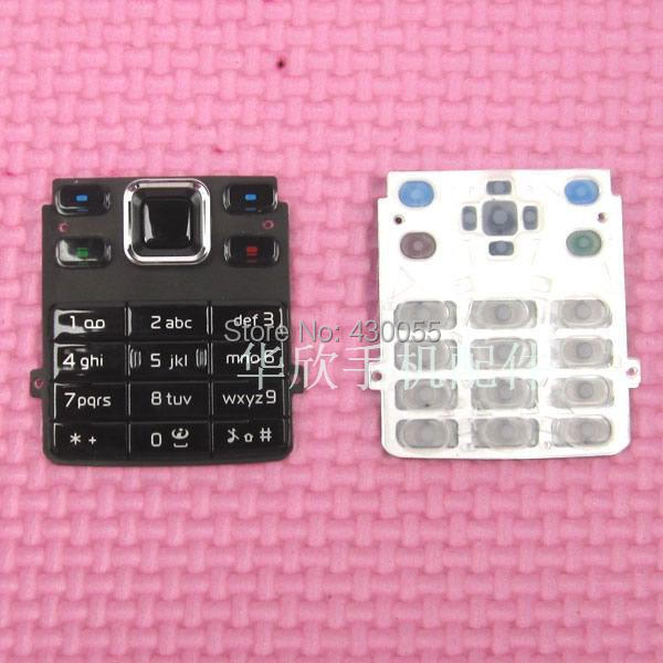 New For <font><b>Nokia</b></font> <font><b>6300</b></font> <font><b>Housing</b></font> Keypads Main Function Keyboards Buttons Cover Case Free shipping Black image