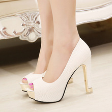 Platform Shoes Woman Wedding Pumps Shoe Women High Heel Zapatos Mujer Plataforma Women Pumps Rubber Peep Toe