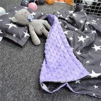 Baby Blankets Newborn 100% Cotton Thicken Double Layer Coral Fleece Infant Swaddle Envelope Wrap Newborn Baby Bedding Blanket