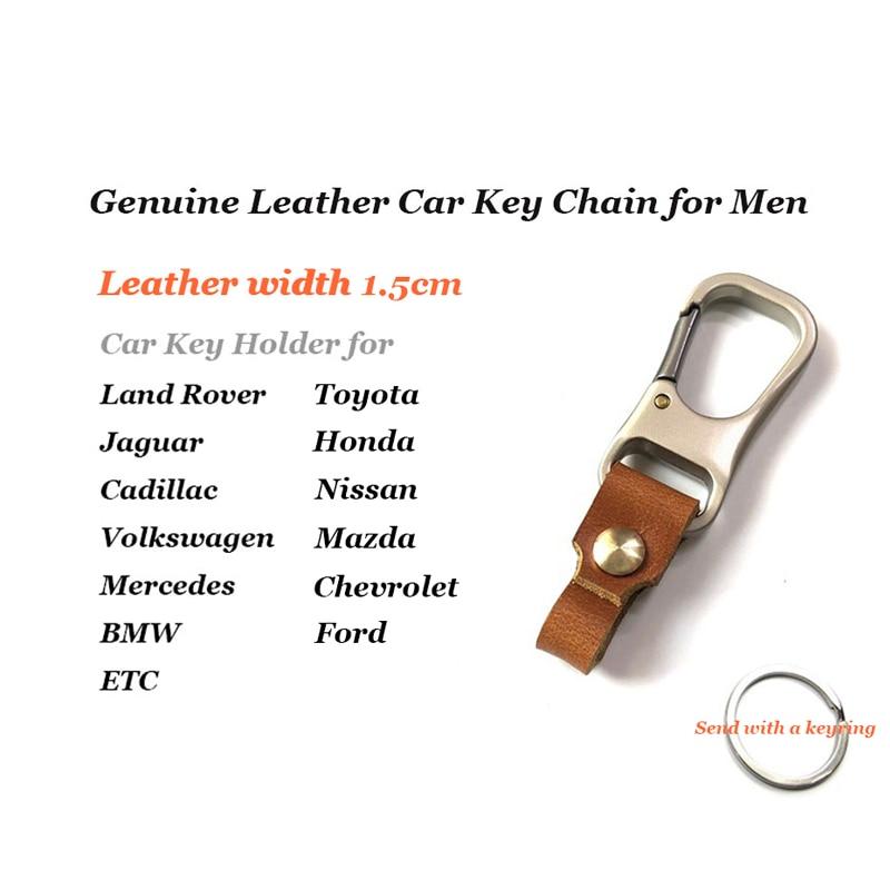 Genuine Leather Key Smart Wallet DIY Car Keychain EDC Pocket Key Holder Keys Organizer Brand Quality