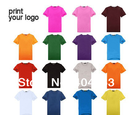 Mini wholesale 50pcs 50 60 discount shipping cost print for Wholesale logo t shirts