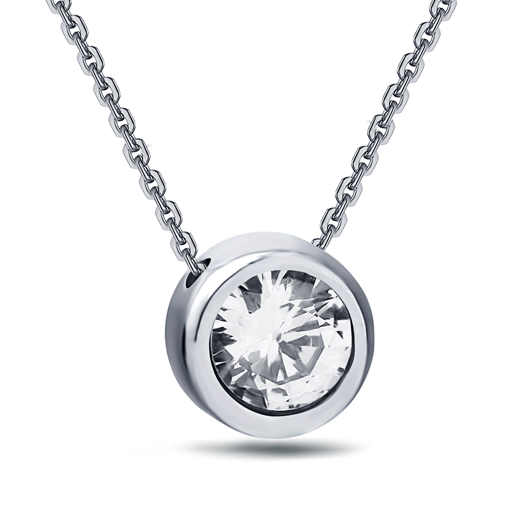 Fashion Jewelry new arrival Women's Stainless Steel Zircon Pendant Crystal Necklaces