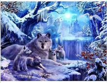 3D DIY Diamond Painting Wolf Jungle Old Castle Snow World Rhinestones Cross Stitch Resin Craft Abstract Graph Home Decor