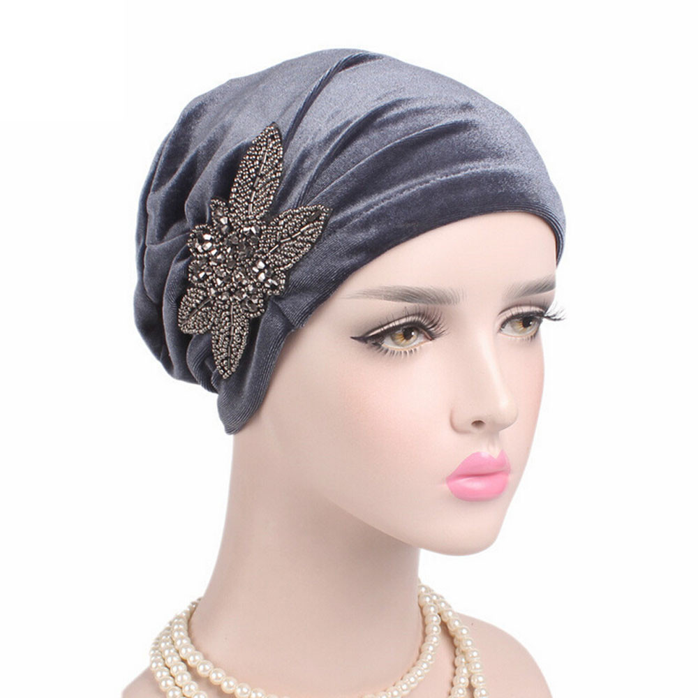 A Cap Women Cancer Chemo Hat Beanie Scarf Turban Head Wrap Cap Solid Color Decal decoration Lace Cotton Paintball Mask Turbante
