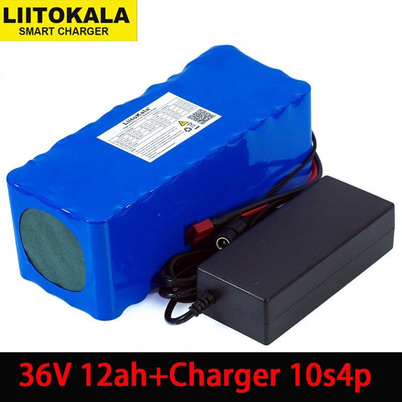 Liitokala 36 V 12Ah 18650 литиевая батарея высокой мощности 12000 mAh мотоцикл электрический автомобиль велосипед Скутер с BMS + 2A зарядное устройство-in Подзаряжаемые батареи from Бытовая электроника