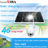 SmartYIBA 1080P Solar Power Battery Powered WiFi Network IP Camera 4G SIM IP camera Night Vision Wireless Outdoor Security