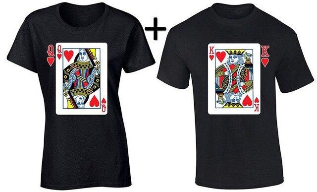 14b4fe8cda Couple Matching T-Shirt King and Queen Couple Shirts Gift for Mr and Mrs  Summer Short Sleeve Cotton Tee Men Women T Shirt