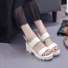 COOTELILI Femmes Plateforme Sandales Compensées Chaussures Dété Pour Femme décontracté Bout Ouvert Sandales Femmes Chaussures Boucle Sandalias Mujer