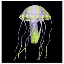 5,5 см светящийся эффект искусственного Медузы рыбы в аквариуме украшения высокое качество силиконовые Аквариумы небольшой орнамент