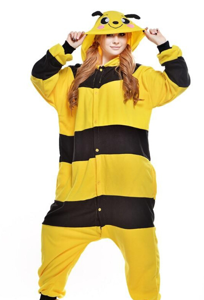Pretty Bee Doraemon Kigurumi Pajamas Animal Suits Cosplay Halloween Costume Adult Garment Cartoon Jumpsuits Animal Sleepwear