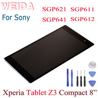 "WEIDA LCD değiştirme 8 ""Sony Tablet için Xperia Z3 Tablet kompakt SGP611 SGP612 SGP621 SGP641 LCD ekran dokunmatik ekran montaj|Tablet LCD'ler ve Paneller|Bilgisayar ve Ofis -"