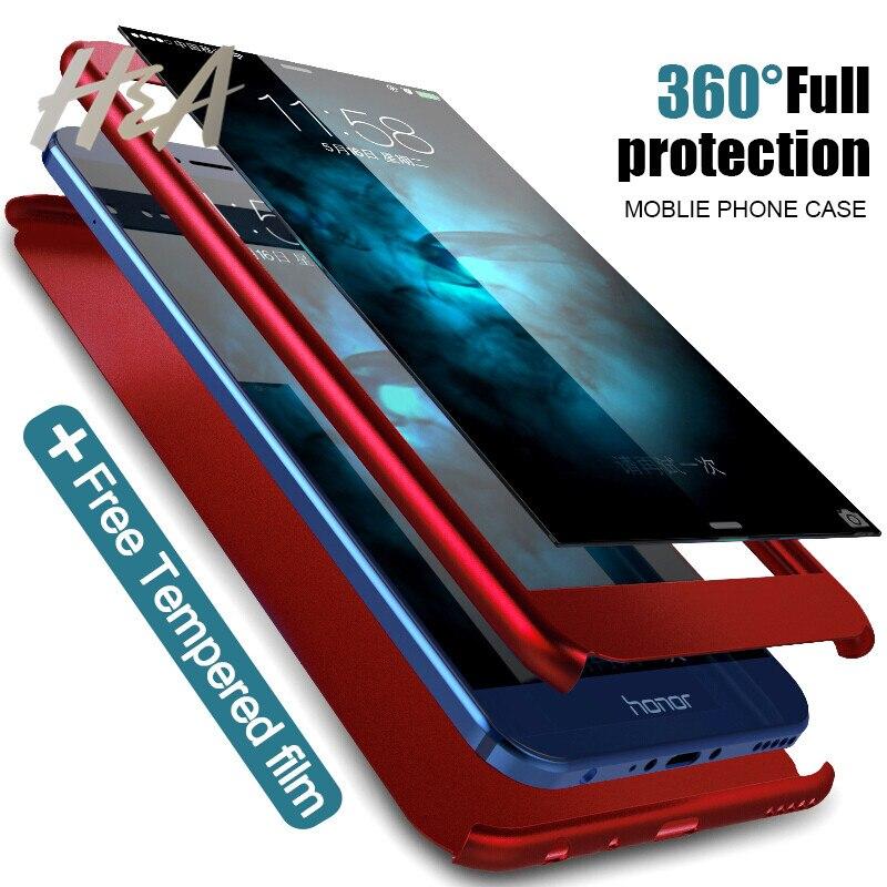H & 360 градусов полный чехол для телефона для huawei Honor 10 9 Lite Чехлы для huawei P10 Lite P10 плюс Honor 9 защитное стекло