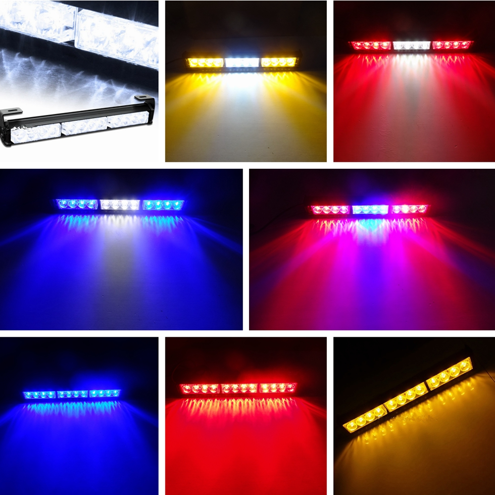 Eonstime 12LED 12W High Power Strobe Light Fireman Flashing Police Emergency Warning Fire Flash Car Truck Red White Amber Blue super bright 12v 24w 4led car strobe flashing emergency light truck police fireman warning led lights for cars amber