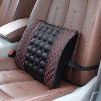 Electric Massage Lumbar Cushion For Car Memory Foam Office Seat Support Rest Back Pillow Chair Waist