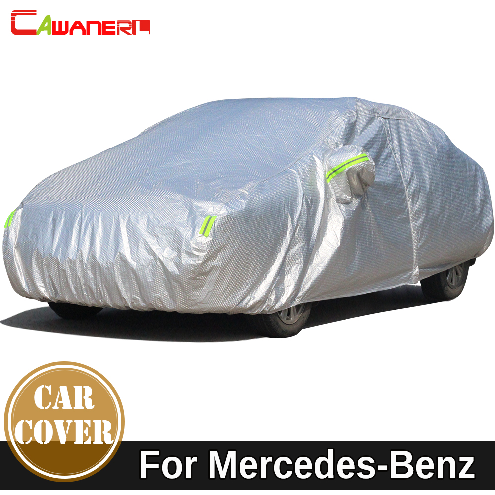 Cawanerl Car Cover Waterproof Sun Snow Rain Protection Cover For Mercedes Benz CLA CLK CLS CL Class SLR W208 C209 C207 A207 W219 buildreamen2 waterproof car covers sun snow rain hail scratch dust protection cover for mercedes benz gle 350 400 450 300 320