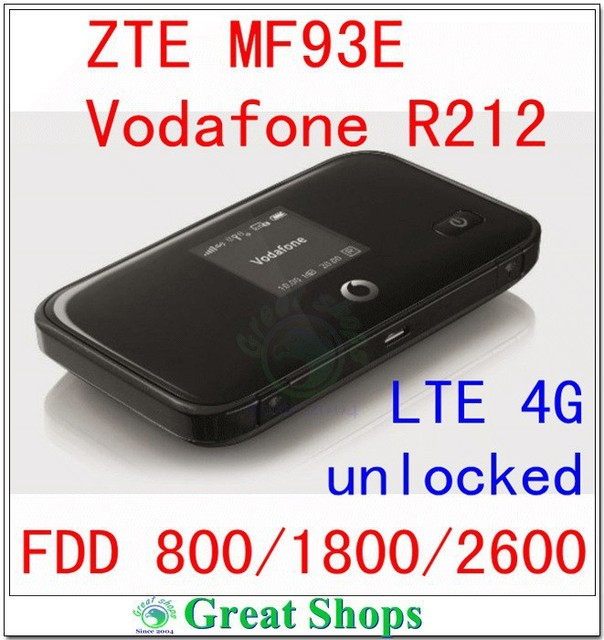 unlock zte mf93E Vodafone R212 lte 4g router 100Mbps 4g mifi router 4g wifi dongle  lte fdd 800 packet router pk mf90 mf93 mf910
